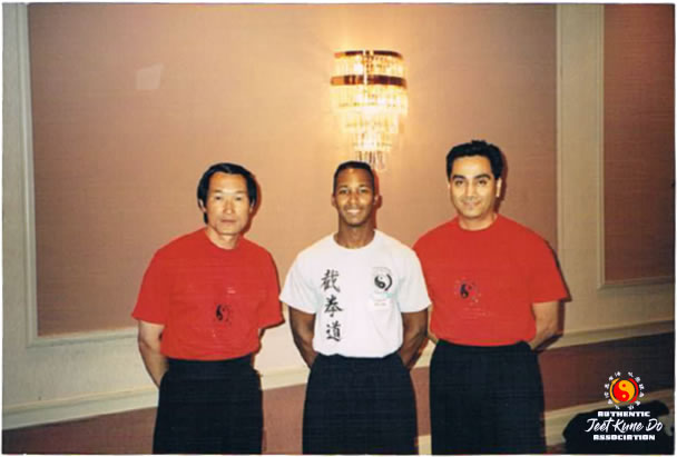 Sifu Wong with Instructor Kenneth Prejean and Sifu Gonzales.