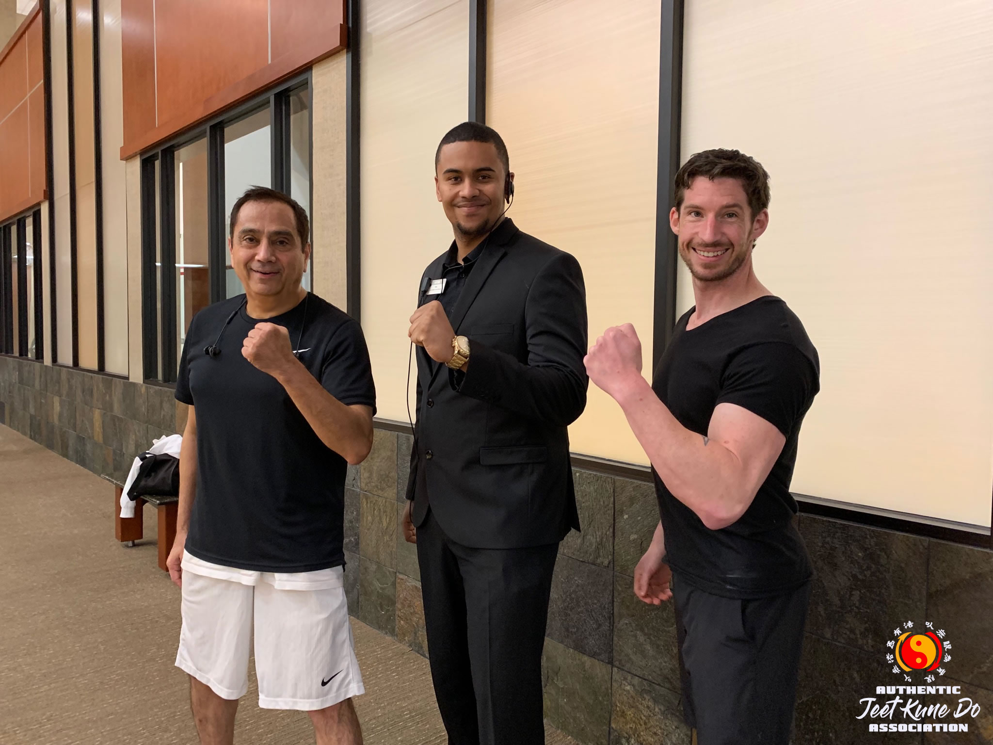 Sifu Michael Gonzales with Kris Moore and Instructor Scott Blum
